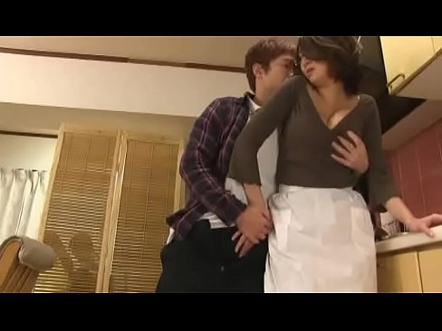 Asian sex in the kitchen