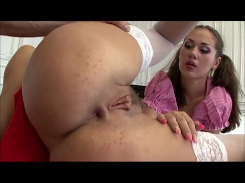 Hot chicks with pigtails getting fucked