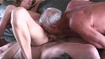 Mature couples first threesome