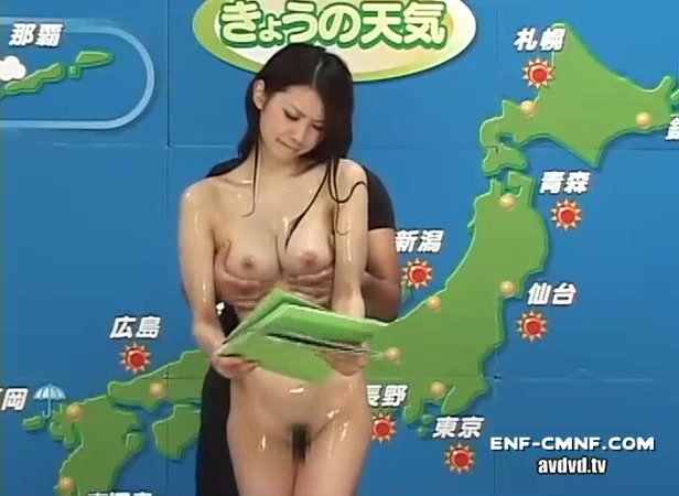 Asian naked weather girl