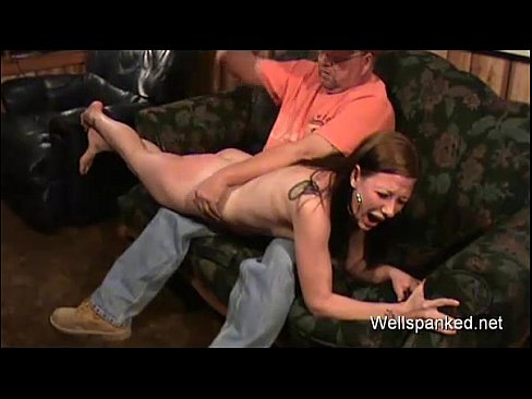 Pussy spanked to tears